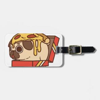 Pug-01 pizza luggage tag