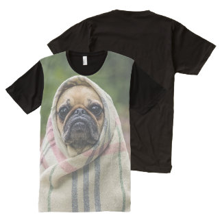 Pug All-Over Print T-Shirt
