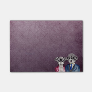 Pug and Brussel Griffon Dogs in Vintage Attire Post-it® Notes