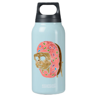pug and donut. insulated water bottle
