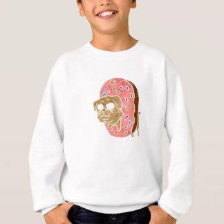 pug and donut. sweatshirt