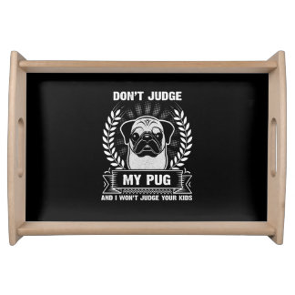 Pug Animal Serving Tray