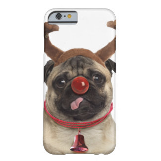 Pug antlers - christmas pug - merry christmas barely there iPhone 6 case