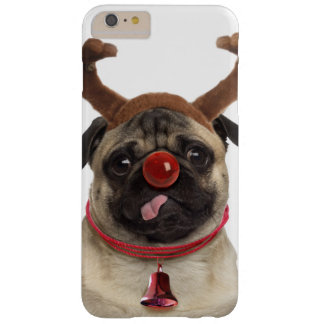 Pug antlers - christmas pug - merry christmas barely there iPhone 6 plus case