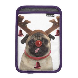 Pug antlers - christmas pug - merry christmas iPad mini sleeve