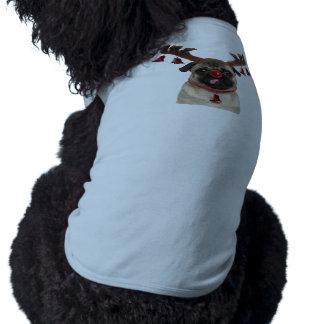Pug antlers - christmas pug - merry christmas shirt