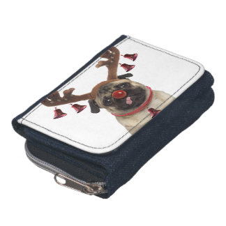 Pug antlers - christmas pug - merry christmas wallet