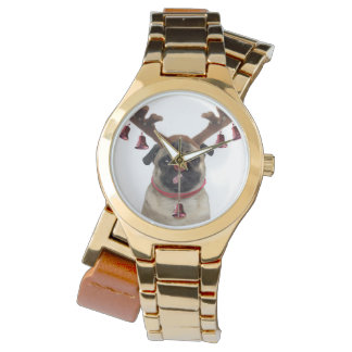Pug antlers - christmas pug - merry christmas watch
