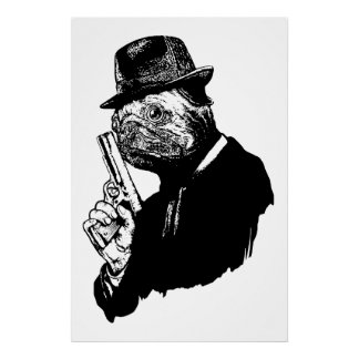 Pug Assassin Poster
