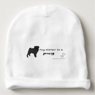pug baby beanie
