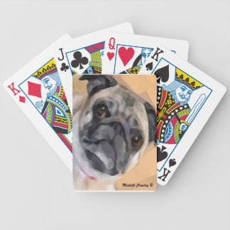 Pug Bicycle Playing Cards