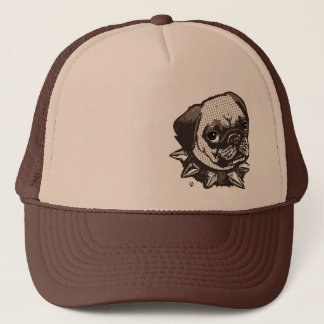 Pug Big Dot Trucker Hat