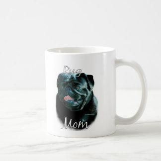 Pug (blk) Mom 2 Basic White Mug