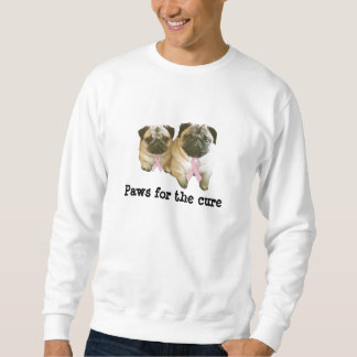 Pug  Breast Cancer Unisex Sweatshirt
