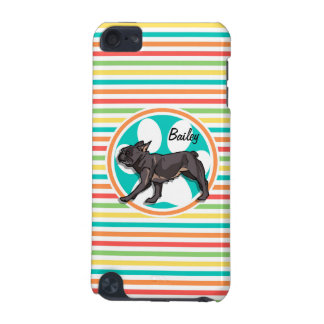 Pug Bright Rainbow Stripes iPod Touch (5th Generation) Cover