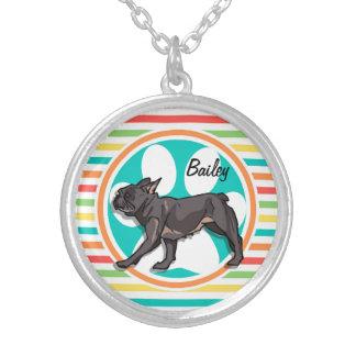 Pug Bright Rainbow Stripes Necklaces