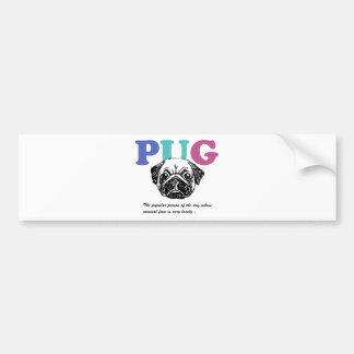Pug Bumper Sticker