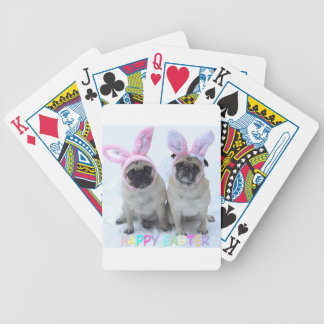 Pug bunny's bicycle playing cards