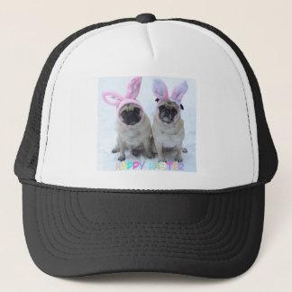 Pug bunny's trucker hat