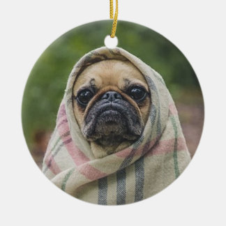 Pug Ceramic Ornament