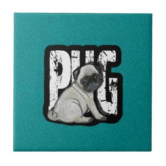 Pug Ceramic Tile