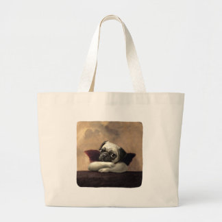 Pug Cherubs Inspired by Raphael Canvas Bag