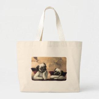 Pug Cherubs Inspired by Raphael Jumbo Tote Bag