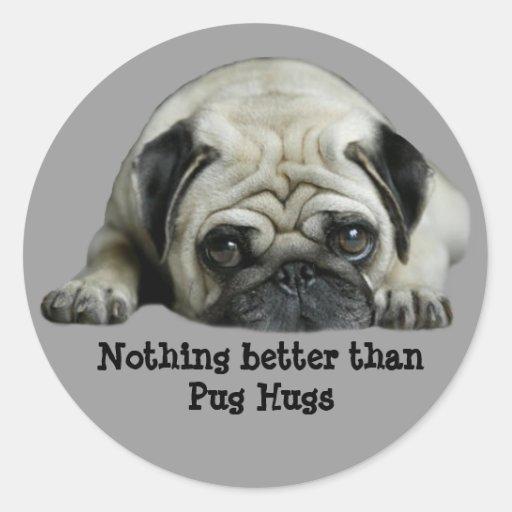 Pug Clown At Heart Sticker