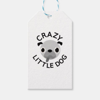 Pug Crazy Little Dog Gift Tags