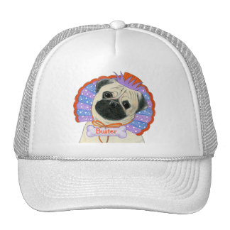 Pug Customizable Name Hat