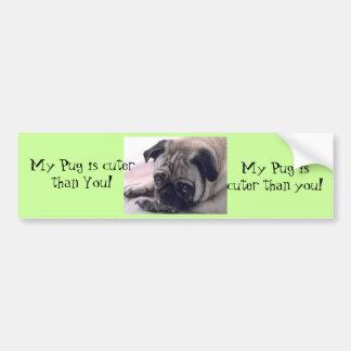 Pug cute Bumper sticker