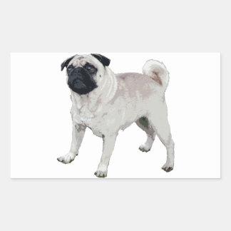 Pug cutie rectangular sticker
