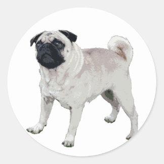 Pug cutie round sticker