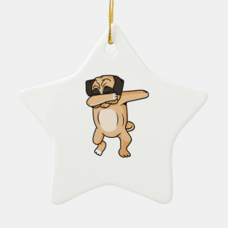Pug Dab Ceramic Ornament