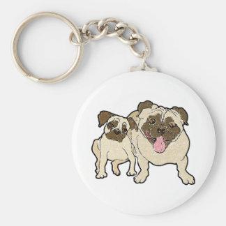 Pug Dad Basic Round Button Key Ring