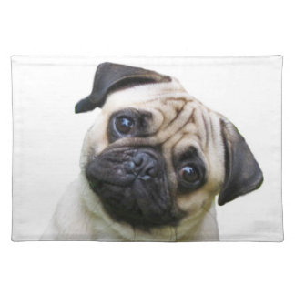 """Pug"" design place mats"