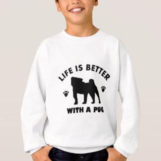 pug design sweatshirt