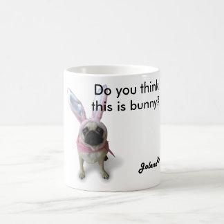 Pug dinghy one Bunny mosquito Basic White Mug