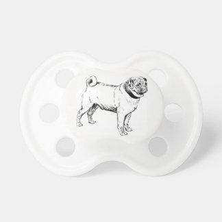Pug Dog 0-6 months BooginHead® Pacifier