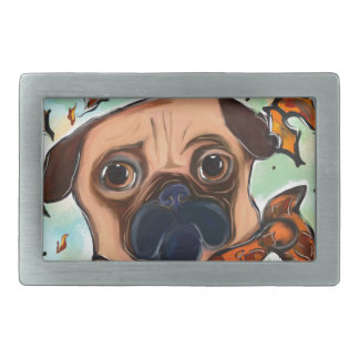 PUG DOG BELT BUCKLE