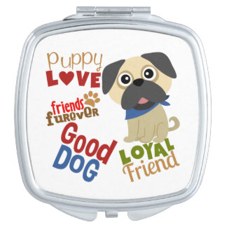 Pug Dog Best Friend Compact Mirrors