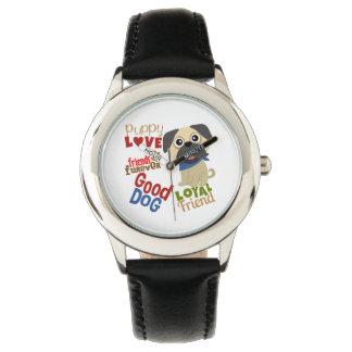 Pug Dog Best Friend Wrist Watches