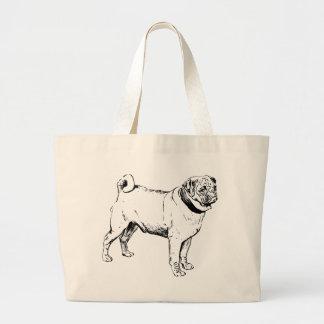 Pug Dog Breed Large Tote Bag