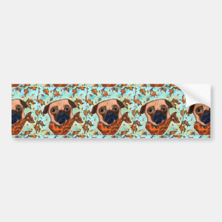 PUG DOG BUMPER STICKER