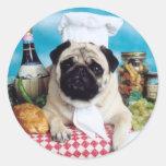 Pug Dog Chef Sticker