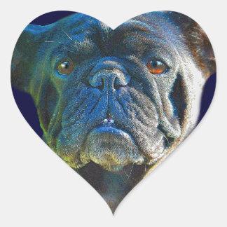 Pug Dog Funny Pet-lover Art Gift Heart Sticker