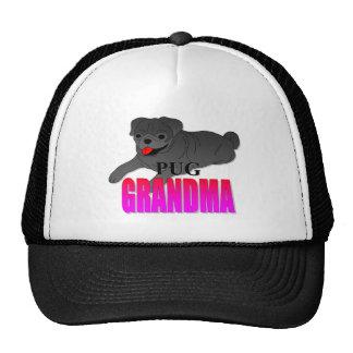 Pug Dog Grandma Cap