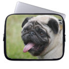 Pug dog laptop bag, cute photo laptop sleeve