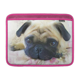 Pug dog MacBook sleeve