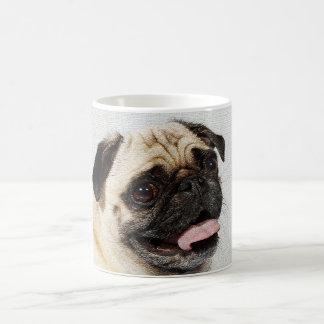 pug dog morning coffee mug